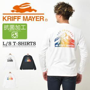 KRIFF MAYER クリフメイヤー 胸ポケット 長袖Tシャツ バックプリント ロンT 長T メン...