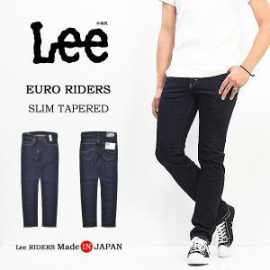 Lee リー EURO RIDERS スリムテーパード ジーンズ 日本製 国産 ストレッチデニム ジーパン メンズ Lee LM0813-100 ワンウォッシュ 送料無料