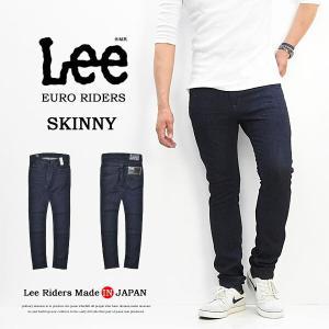 Lee リー EURO RIDERS スキニー ジーンズ 日本製 国産 ストレッチデニム ジーパン メンズ Lee LM0815-100 ワンウォッシュ 送料無料