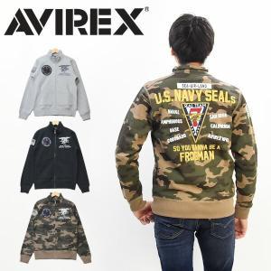 AVIREX アヴィレックス STAND ZIP SWEAT SEAL TEAM7  AVIREXよ...