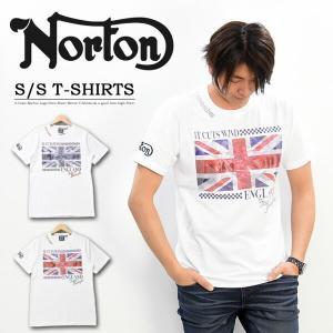 SALE Norton ノートン ドライ ユニオンジャック 昇華 Tシャツ 半袖 ロゴ メンズ バイカー 192N1003 rexone