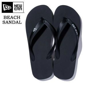 NEW ERA ニューエラ Beach Sandals ビーチサンダル ストリート メンズ ビーサン ブラック 黒11901533|rexone