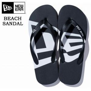 NEW ERA ニューエラ Beach Sandals ビーチサンダル ブラック ホワイト 黒 11901532|rexone