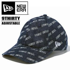 NEW ERA ニューエラ 9THIRTY ロゴオールオーバー インディゴデニム キャップ 帽子 930 総柄 12108968 ホワイトプリント|rexone