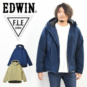 30%OFF セール SALE EDWIN エドウィン F.L.E エアーサックジャケット アウター 二層防風 アウトドア キャンプ 中綿ジャケット 防寒 メンズ 送料無料 ET5799|rexone