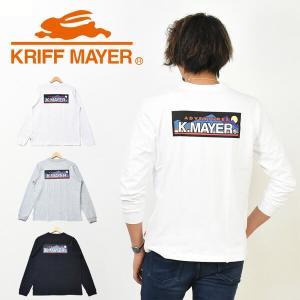 KRIFF MAYER クリフメイヤー ロゴプリント 長袖Tシャツ アドベンチャー バックプリント ロンT カットソー インナー 胸ポケット メンズ ロゴTシャツ 1947203|rexone