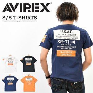 AVIREX アビレックス シーチング ワッペン SR-71 半袖 Tシャツ クルーネック メンズ ...