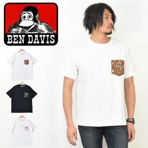 BEN DAVIS ベンデイビス スプラッシュペイント 胸ポケット 半袖 Tシャツ ワンポイント 半T 0580010|rexone