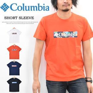 Columbia コロンビア ボックスロゴ プリント 半袖 Tシャツ メンズ キャンプ アウトドア プリントTシャツ 半袖Tシャツ ロゴTシャツ AE0403 rexone