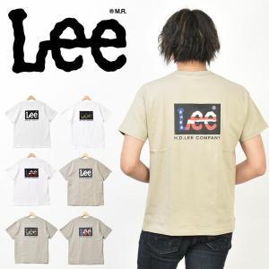 Lee リー ボックスロゴ バックプリント 半袖 Tシャツ メンズ レディース ユニセックス Lee LT4010 rexone