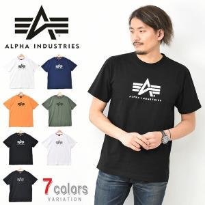 ALPHA INDUSTRIES アルファ インダストリーズ ロゴプリント 半袖 Tシャツ A-MARK ミリタリー プリントTシャツ TC1400|rexone