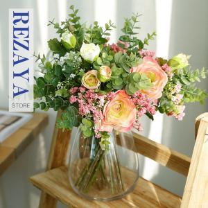 造花 インテリア お洒落 雑貨 ナチュラル 飾り  3本  合わせやすい 部屋装飾 花束 ブーケ フェイクグリーン プレゼント ギフト