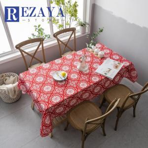 テーブルクロス 食卓カバー デスクマット テーブルマット   長方形  防水  プリント  テーブルカバー 汚れ防止 傷防止 おしゃれ 大人気 滑り止め|rezayastore
