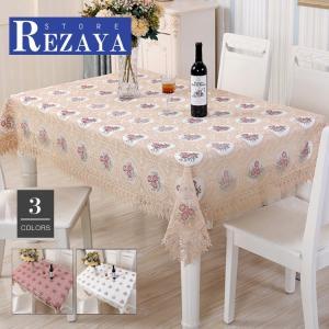 テーブルクロス 食卓カバー デスクマット テーブルマット   レース  欧米風   刺繍   テーブルカバー 汚れ防止 傷防止 おしゃれ 大人気 滑り止め|rezayastore
