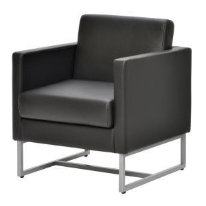 ループ脚ソファ1人掛け  / ブラック GZLPSF-1BK[代引き不可] アールエフヤマカワ RFyamakawa  オフィス 会議室 商談  応接用 1人用 sofa|rf-yamakawa-y