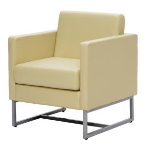 ループ脚ソファ1人掛け  / ホワイト GZLPSF-1WH[代引き不可] アールエフヤマカワ RFyamakawa  オフィス 会議室 商談  応接用 1人用 1人掛け sofa|rf-yamakawa-y