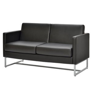 ループ脚ソファ2人掛け  / ブラック GZLPSF-2BK[代引き不可] アールエフヤマカワ RFyamakawa  オフィス 会議室 商談  応接用 2人用 二人掛け 2人掛け sofa|rf-yamakawa-y