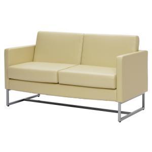 ループ脚ソファ2人掛け  / ホワイト GZLPSF-2WH[代引き不可] アールエフヤマカワ RFyamakawa  オフィス 会議室 商談  応接用 2人用 二人掛け 2人掛け sofa|rf-yamakawa-y