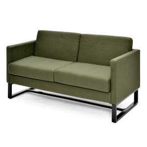 スクエアソファ ファブリック 2人掛け  / グリーン GZSSF-F2PGNアールエフヤマカワ RFyamakawa  オフィス 会議室 商談  応接用 2人用 sofa|rf-yamakawa-y
