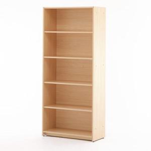 【商品説明】 可動棚板でムダなく収納できるシンプルなハイシェルフ。付属の棚板4枚のうち上から2段目の...
