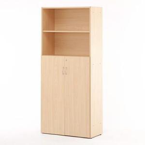 【商品説明】 可動棚板でムダなく収納できるJシリーズのハイシェルフ共通扉付き。すぐ取り出したいものは...