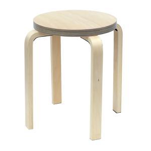 [在庫限り]ペーパーウッドスツール / ブルー(1脚) RFSCPW-1BL[代引き不可]アールエフヤマカワ RFyamakawa 丸椅子 色紙 積層合板 ラウンドスツール ナチュラル|rf-yamakawa-y