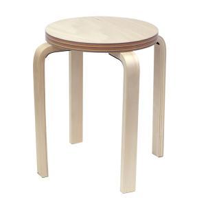 [在庫限り]ペーパーウッドスツール / レインボー(1脚) RFSCPW-1RB[代引き不可]アールエフヤマカワ  丸椅子 色紙 積層合板 ラウンドスツール ナチュラル|rf-yamakawa-y
