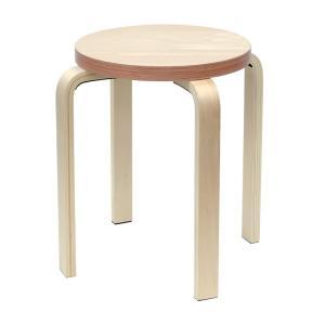 [在庫限り]ペーパーウッドスツール / レッド(1脚) RFSCPW-1RD[代引き不可]アールエフヤマカワ RFyamakawa 丸椅子 色紙 積層合板 ラウンドスツール ナチュラル|rf-yamakawa-y