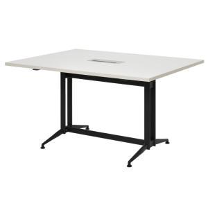 【商品説明】 足さばきの良いT字脚タイプの大会議テーブル基本ダーク。天板には配線ボックスがあります。...