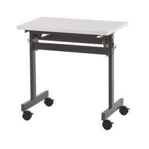 【商品説明】 W700のコンパクトなキャスター付きフォールディングテーブル。天板下にラック、両サイド...