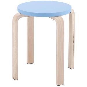 木製丸椅子 / ブルー (1脚入) Z-SHSC-1B  丸イス 北欧 スタッキングスツール スタックチェア いす 丸イス ラウンドチェア スツール|rf-yamakawa-y