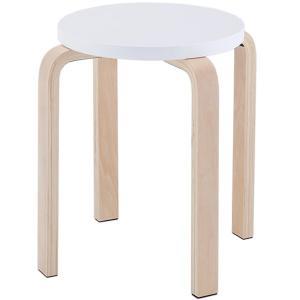 木製丸椅子 / ホワイト (1脚入) Z-SHSC-1WH スツール 丸イス スタッキングスツール スタックチェア  丸椅子 丸イス ラウンドチェア|rf-yamakawa-y