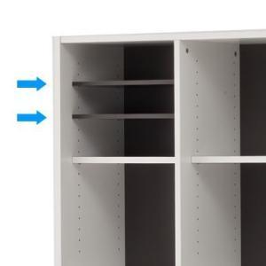 【商品説明】 プリーマ木製格子型シェルフ専用のオプション棚板2枚入り。シェルフ本体は別売りです。  ...