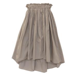 ダブルスタンダードクロージング タイプライターギャザースカート/0502000172/36/ベージュ/Double Standard Clothing 翌日配送可/209654|rfstore