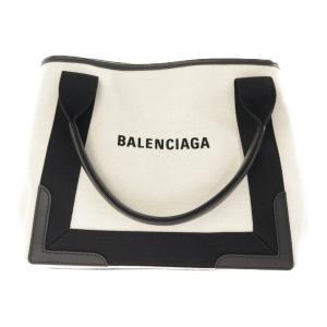 バレンシアガ ネイビーカバスSサイズ・トートバッグ ポーチ付き/339933.1081/アイボリー/ブラック/BALENCIAGA/RF3/b190808/301216|rfstore