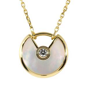 カルティエ アミュレットドゥカルティエ・XS マザーオブパール 1Pダイヤモンドネックレス/K18YG/750-3.0g/B3047100/Cartier/h190216/277724|rfstore