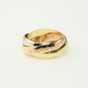 カルティエ トリニティドゥカルティエ Must de Cartier リング 指輪/K18/750 -6.5g/8号/#48/3カラーゴールド/Cartier /RF3/h210715/400309 rfstore