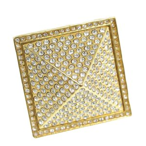 ジバンシー(ジバンシィ) スクエア ラインストーン・リング・指輪/合金/メッキ-26.3g/14号/#54/ゴールド/GIVENCHY/RF4/h191226/323150|rfstore
