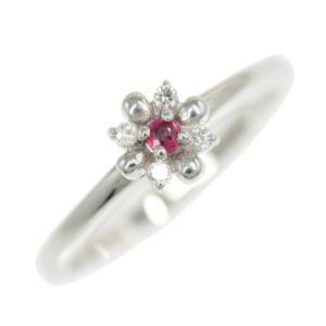 スタージュエリー フラワールビー・ダイヤモンドリング・指輪/K18WG/750-3.2g/FD:0.04ct/10号/#50/RF1/h200117/325201|rfstore