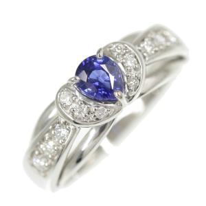 ポーラ ブルーサファイア・ダイヤモンドリング/K18WG/750-4.2g/SA0.48ct/FD:...