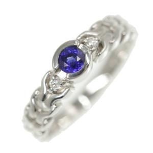 ミキモト 1P・ブルーサファイア・ダイヤモンドリング・指輪/K18WG-3.5g/SA0.20ct/FD:0.04ct/10号/#50/RF1/h200117/325474|rfstore