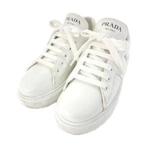プラダ ロゴレザーローカットスニーカー 靴/1E223M/37/ホワイト/PRADA 翌日配送可/b211016/412543 rfstore