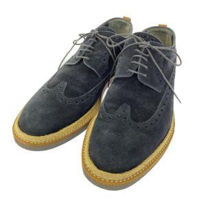 ルイヴィトン スエードレザー ウィングチップ オックスフォードシューズ 靴/51/2(25.0cm相当)/ネイビー/LOUIS VUITTON /b211016/412558 rfstore