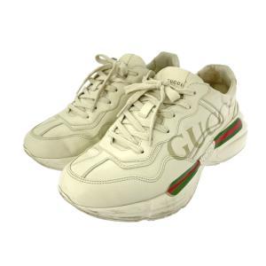 グッチ ヴィンテージロゴレザー スニーカー 靴/500877/7(26.0cm相当)/ホワイト/グリーン/レッド/GUCCI 翌日配送可/b211014/412021 rfstore