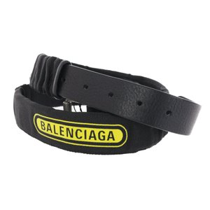 超美品・バレンシアガ WEBBING BELT・ウェビング ロゴベルト/533715/ブラック(NOIR)/イエロー/BALENCIAGA/RF4/b191015/313413|rfstore
