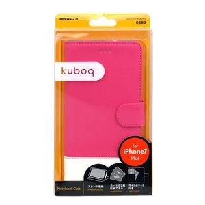 【未使用アウトレット】kuboq 収納ポケット × スタンド機能付 手帳型ケース OWL-CVIP7P04  iPhone8 Plus / iPhone7 Plus対応|rguildnet
