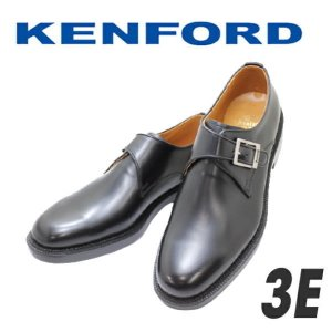 ビジネスシューズ メンズ リーガル ケンフォードKENFORD K642L黒3E 本革 モンクストラップ ヒモなし|rhythm-shoes