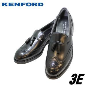 ビジネスシューズ メンズ リーガル ケンフォード KENFORD KN39黒AAJ 3E 靴 本革 ヒモなしスリッポン オシャレ ウイングチップ タッセル|rhythm-shoes