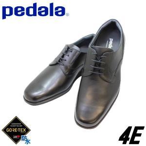 ビジネス ウォーキングシューズ メンズ アシックスペダラ WP407M黒4E 幅広甲高 本革  防水ゴアテックス|rhythm-shoes
