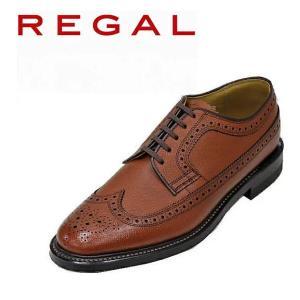 ビジネスシューズ リーガル REGALウイングチップ2235ブラウン(革底)本革紳士靴 |rhythm-shoes